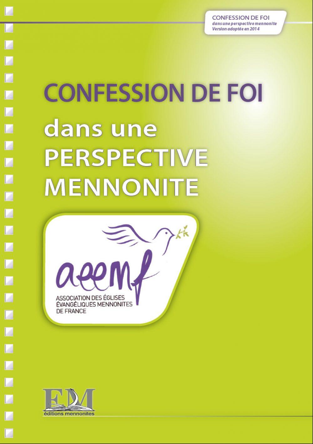 Confession de Foi 2014 (1ere de couverture)