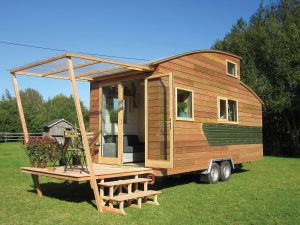 Une Tiny House Crédit photo : charpentes Thiery