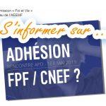 L'AEEMF va-t-elle adhérer au CNEF et à la FPF ?