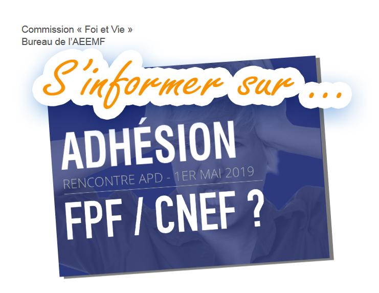 Adhésion CNEF FPF ? Infos !