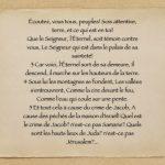 « Descente » (MICHÉE 1.2-5)